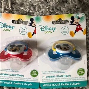Mickey Mouse pacifiers